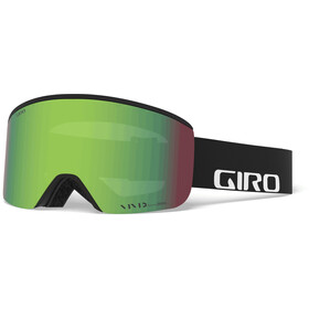 Giro Axis Gafas Hombre, black wordmark/vivid emerald/vivid infrared